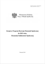 Krajowy Program Rozwoju Ekonomii Społecznej do 2023 roku.