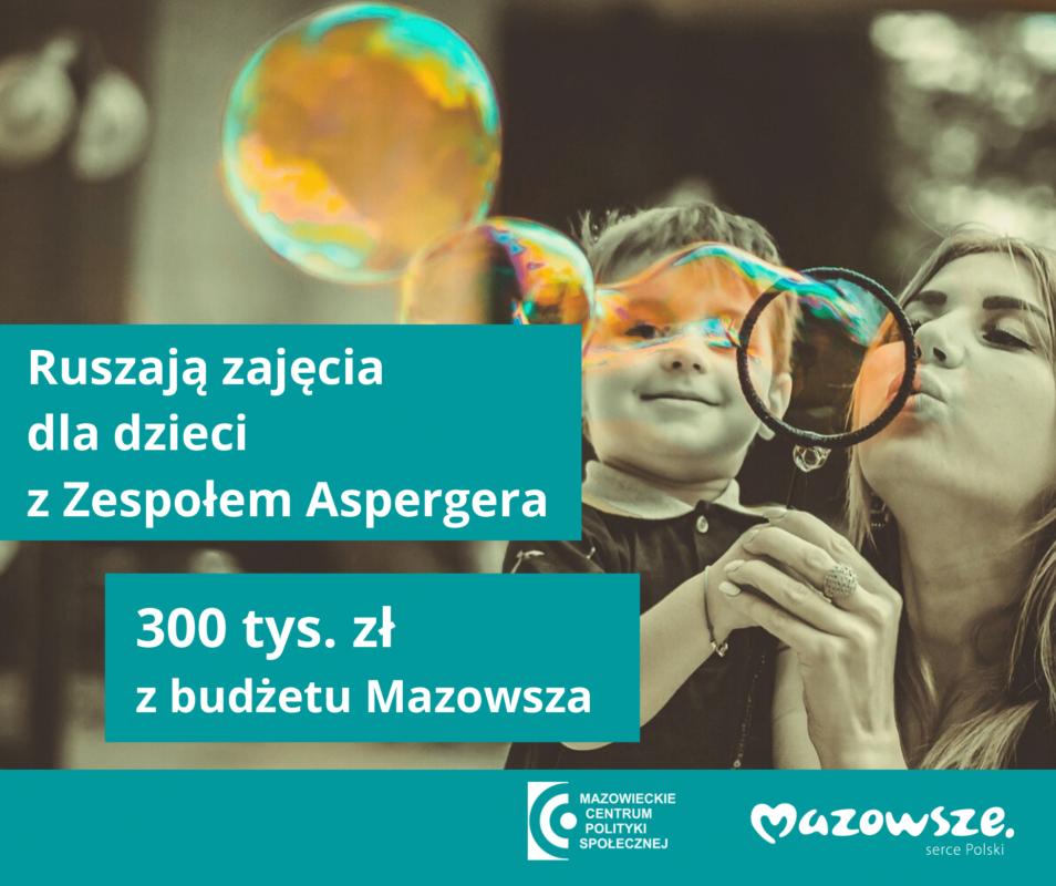 informacja o dotacji na zajęcia dla dzieci z zespołem Aspergera