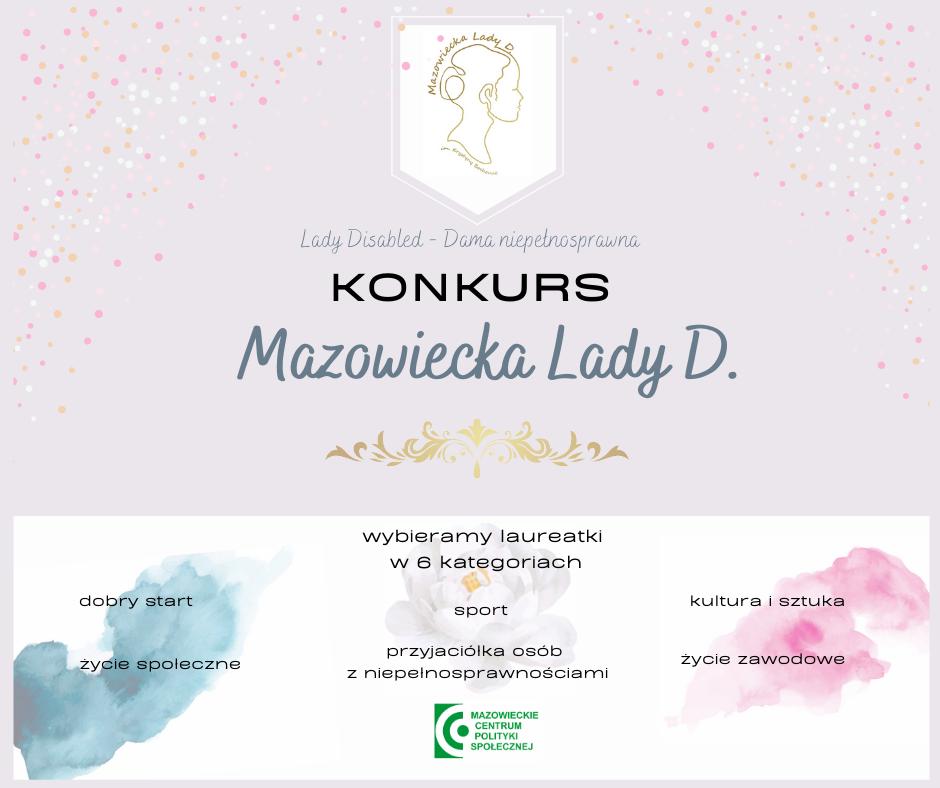 informacja o konkursie Mazowiecka Lady D. 2020