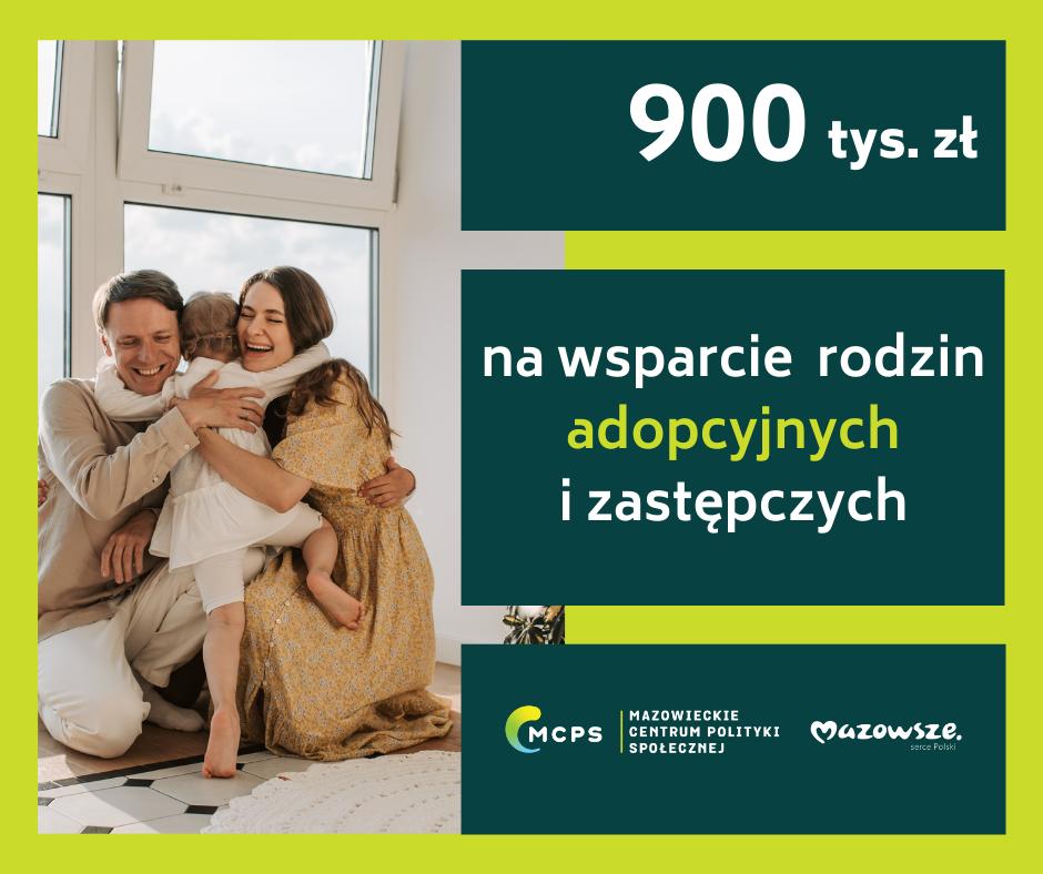 Infografika dotycząca środków przeznaczonych na wsparcie rodzin adopcyjnych i zastępczych