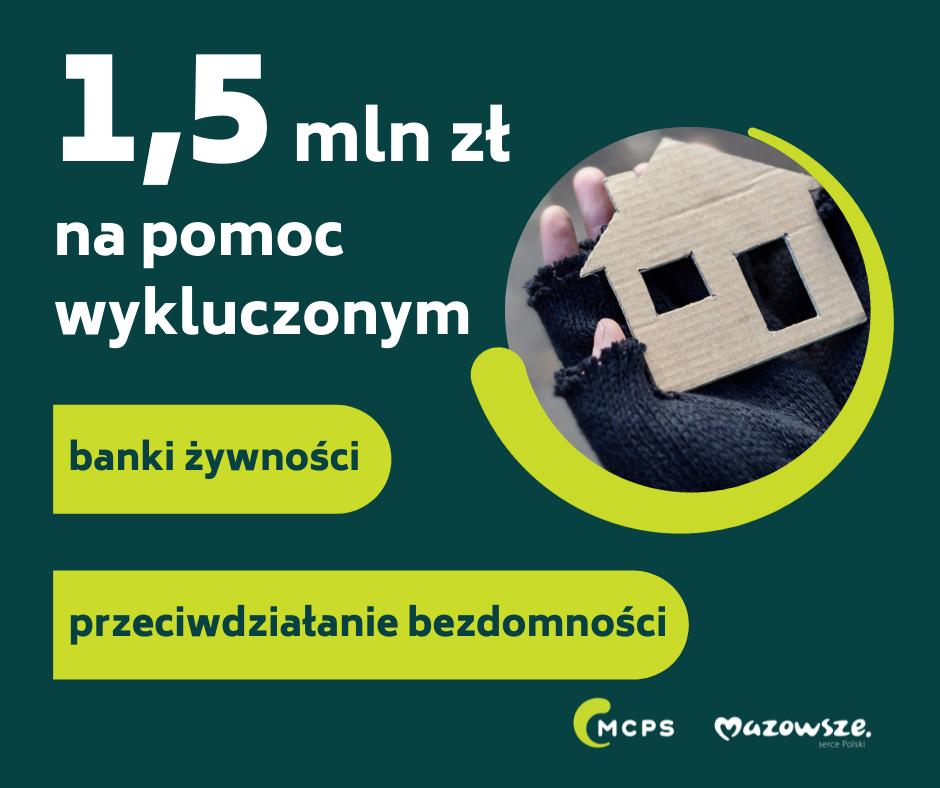 1,5 mln zł na pomoc wykluczonym - grafika