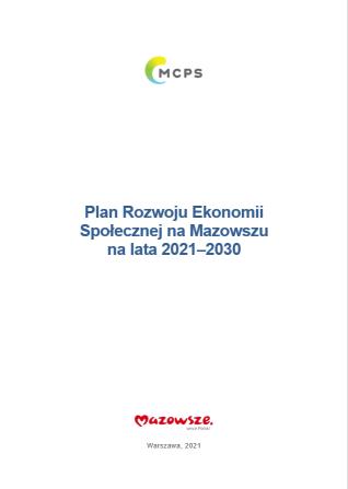 Okładka Planu Rozwoju Ekonomii Społecznej na Mazowszu na lata 2021-2030