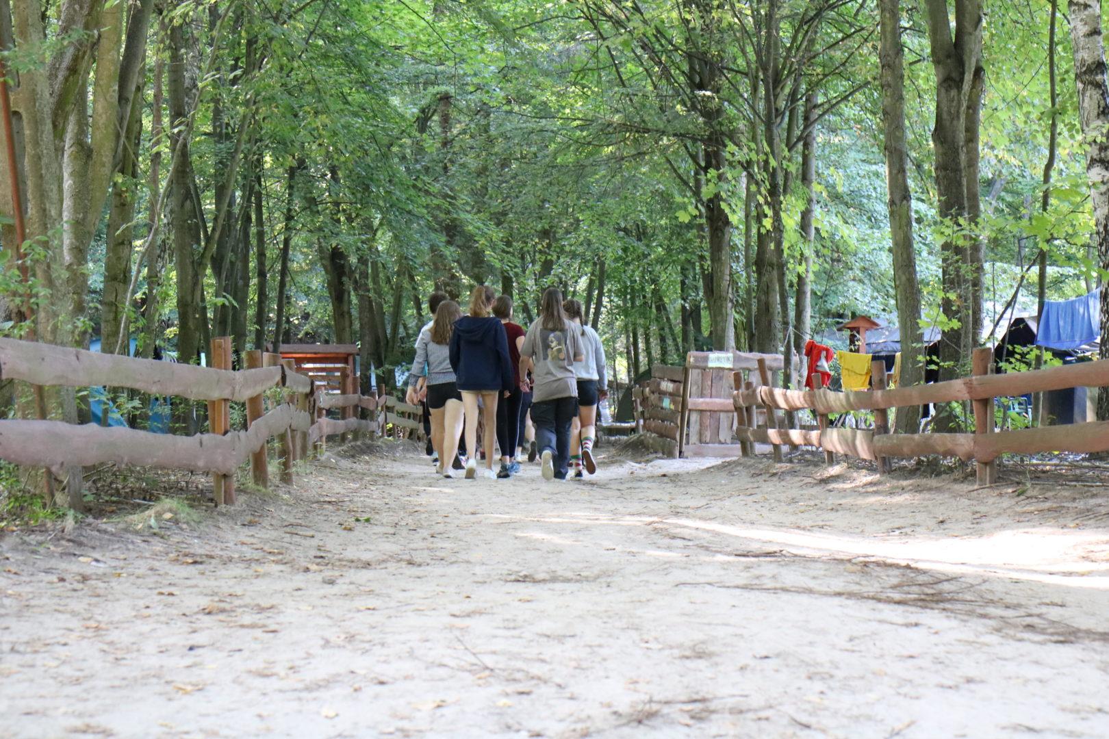 Zdjęcie z obozu harcerskiego