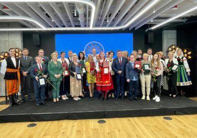 Zdjęcie z gali wręczenia wyróżnień Mazowiecką Marką Ekonomii Społecznej